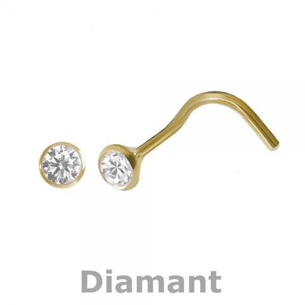 5160 Nasenstecker Diamant 750/-