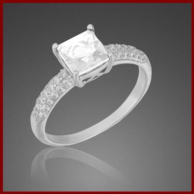 008115-200604-50--8115 Ring rhodiniert 925/-