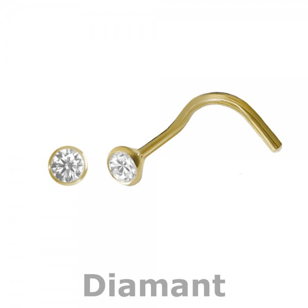 5158 Nasenstecker Diamant 750/-