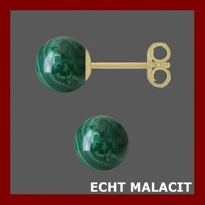 002201-400463--2201eMA Ohrstecker 585/- echt Malachit rund 6,0