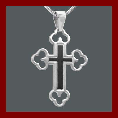 004263-900100--4263 Kreuz-Anhänger Edelstahl