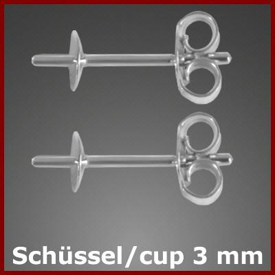 F3200RH Furnituren Ohrstecker für Perlen 925/-